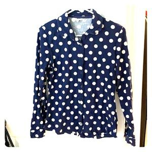 Boden button front wrinkle top